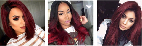 Red velvet dark red cherry red burgundy hair color for black girls 2020