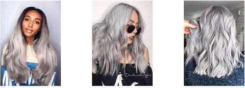 Smoke ice silver platinum blonde hairstyles inspiration trendy hair 2020