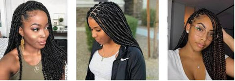 box braids protective hairstyle for black girl