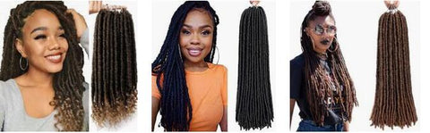FAUX LOCS protective hairstyle for black girl