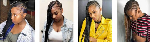 LEMONADE BRAIDS protective hairstyle for black girl