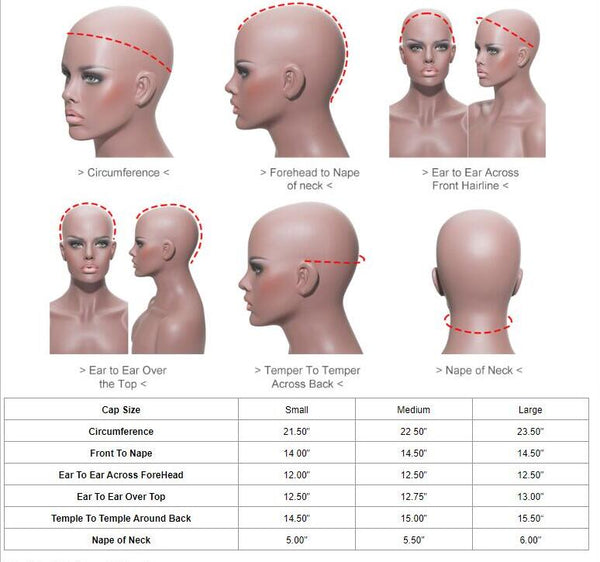 Cap size chart how to measure your head size