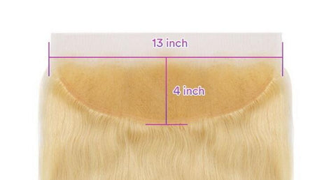 613 blonde human hair 13x4  lace frontal straight body wave deep wave for black girl sewin