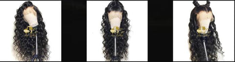 Loose curly loose wave 360 lace frontal wig