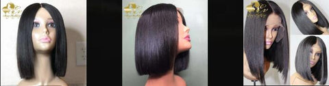 Short Blunt Cut Bobstyle Lace Closure Wig HeyMyWig