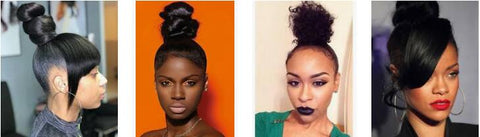 top knots protective hairstyle for black girl