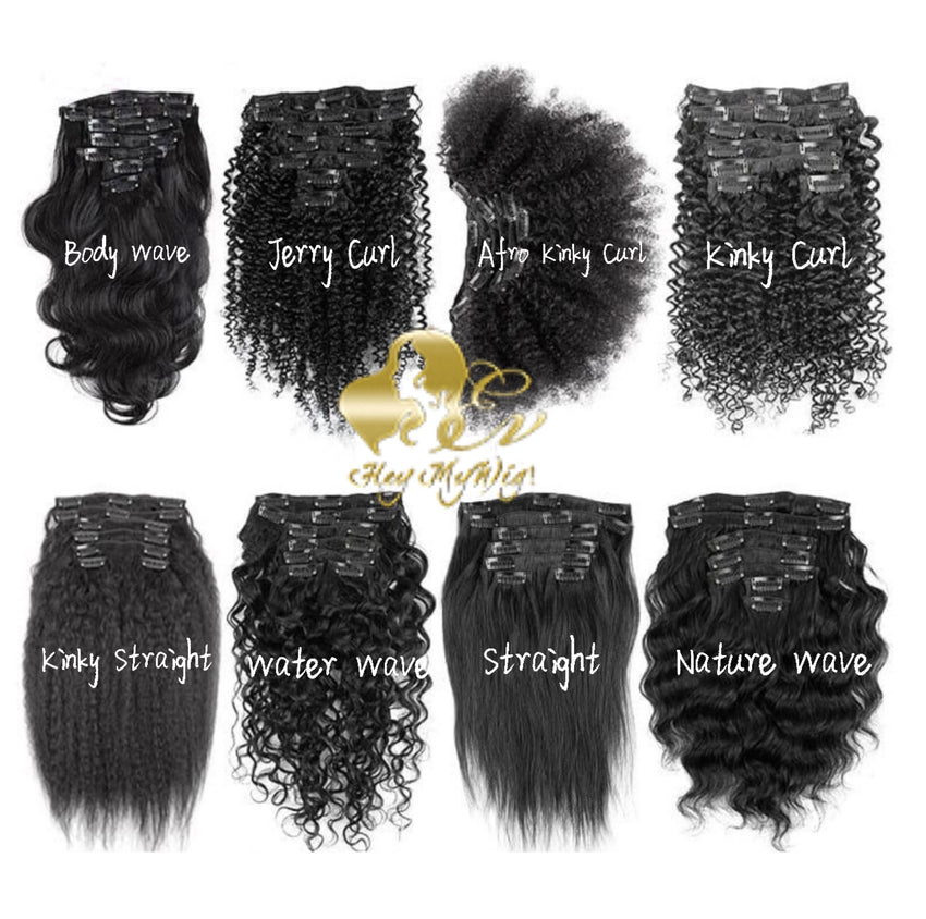 Clip in human hair extension 4A 4B Afro curly texture hair