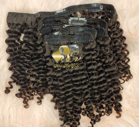 Clip in human hair extension Deep wave hair - heymywig.com
