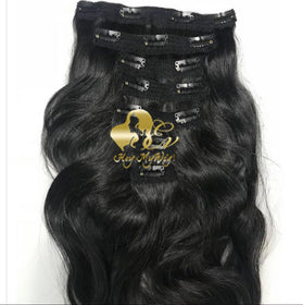Clip in human hair extension Body wave hair - heymywig.com