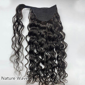 Wrap-around Ponytail Afro Kinky Coily/Kinky Straight/Nature Wave/Straight