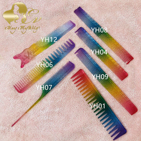 Rainbow Color Styling Hair Combs