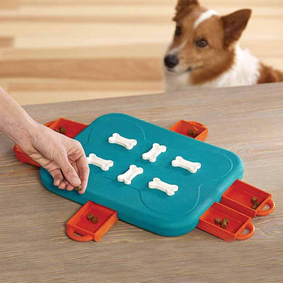 Leaky Feeder Toy for Dog Portable Interactive Square Shape - offloaddogsboner