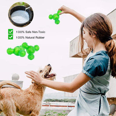 Food Dispensing Treat Ball For Puppy IQ Interactive Dog Toys Rubber Safe Bite Resistant - offloaddogsboner