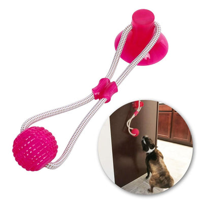 Multifunction Pet Molar Bite Dog Toys Rubber Chew Ball Cleaning Teeth Safe Elasticity TPR Soft Puppy Suction Cup Biting Dog Toy - offloaddogsboner