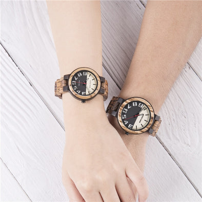 New Design Reloj Hombre Fashion Lovers Male Watches Man Lady  Casual Wood Strap Quartz Women Men's Watch Couple Clock C11