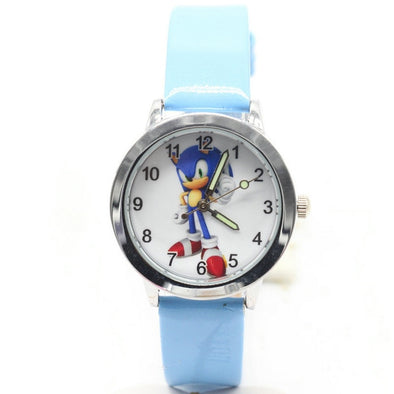 NEW Cute 3D Cartoon Lovely Girls Boys Children Watches Sonic Quartz Wrist Kids Watch Very Popular Clock kol saati relogios elsa