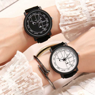 Fashion Creative Design Simple Boy Female Student Couple Quartz Watch Female Models Men's Clock Montres Femme