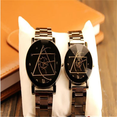 NEW High quality Classic luxury alloy band quartz analog Compass wrist watch Xmas Couple gift