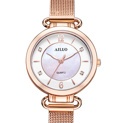 New Ladies Ultra-thin Bracelet Wristwatches France Luxury Brand AILUO Women's Watches Japan MIYOTA Quartz Sapphire Watches A7119