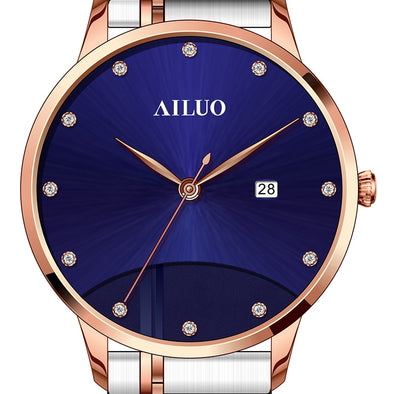 France Luxury Brand AILUO Couple's Watches Japan MIYOTA Quartz Women Wristwatches Sapphire Watches Diamond reloj mujer A7098W