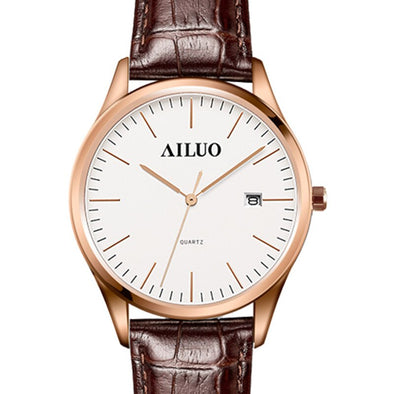 France Luxury Brand AILUO Couple's Watches Quartz Movement Women's Wristwatches Ultra-thin Watches Waterproof reloj mujer A7082L