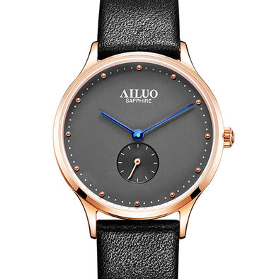 France Luxury Brand AILUO Couple's Watches Japan MIYOTA Quartz Movement Women Wristwatches Ultra-thin Watches reloj mujer A7607W