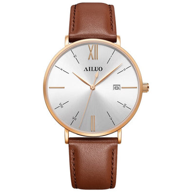 NEW FRANCE AILUO Men Watches Luxury Brand 7.5 mm Ultra-thin Watch Men Waterproof reloj hombre Quartz Movement Male Clock A7610