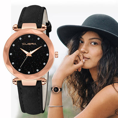 CUENA Brand Casual Watches Women Fashion Luxury Watch Ladies Quartz Leather Relojes Mujer Montre Femme Relogio Feminino Clock