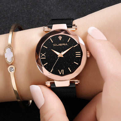 CUENA Woman Ladies Watch Fashion Stainless steel Leisure quartz Womens Watches Clock Women 2019 Montre Relogio Feminino