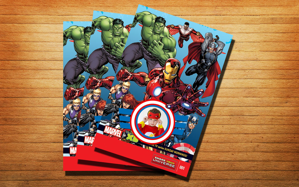 Toko6 Design Avengers Assemble Birthday Invitation Cards 4x6 5x7