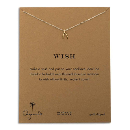 Dogeared Wish Gold Dipped Necklace   Eve's Addiction®