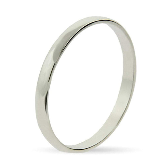 Plain Thin Silver Stackable Band