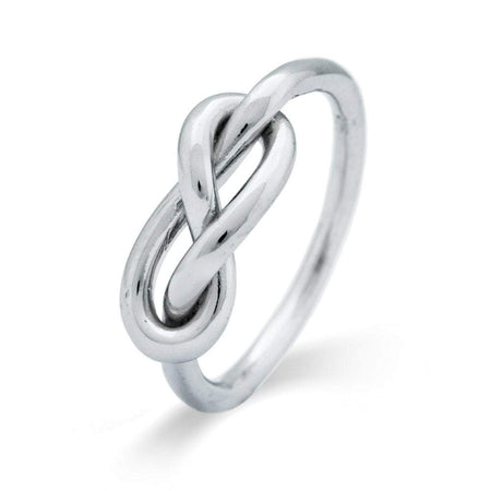 Infinity Knot Sterling Silver Ring