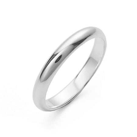 Classic Sterling Silver Wedding Band