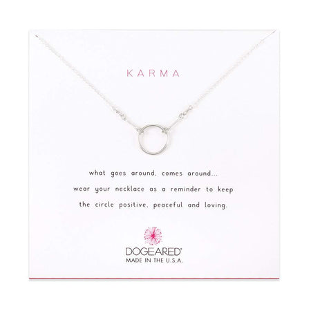 Dogeared Karma Sterling Silver Necklace