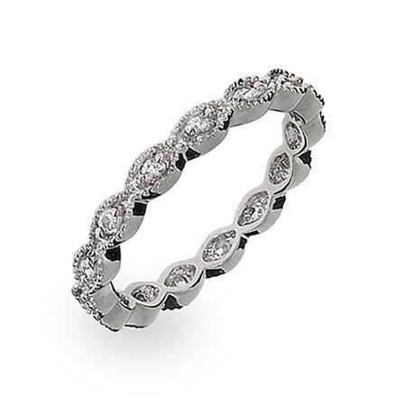 Victorian Style Stackable CZ Band