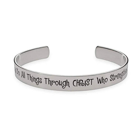I Can Do All Things Through Christ Who Strengthens Me Cuff Bracelet