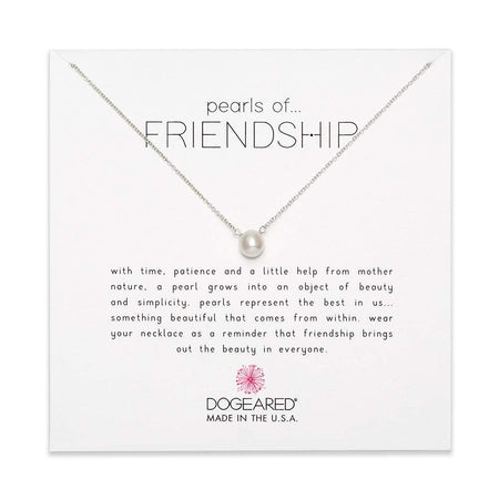 Dogeared Pearls of Friendship Sterling Silver Necklace