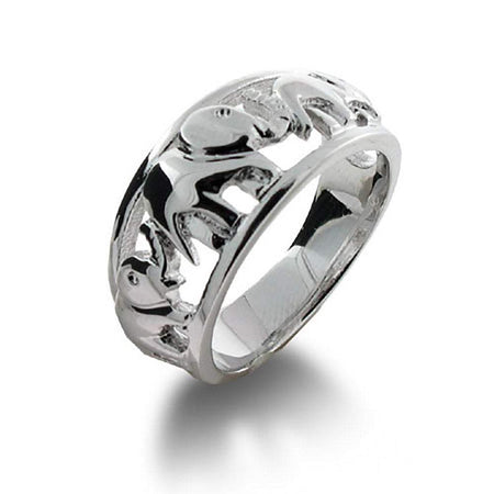 Elephants on Parade Sterling Silver Ring   Eve's Addiction®