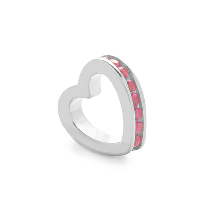 Silver July Eternity Heart Charm