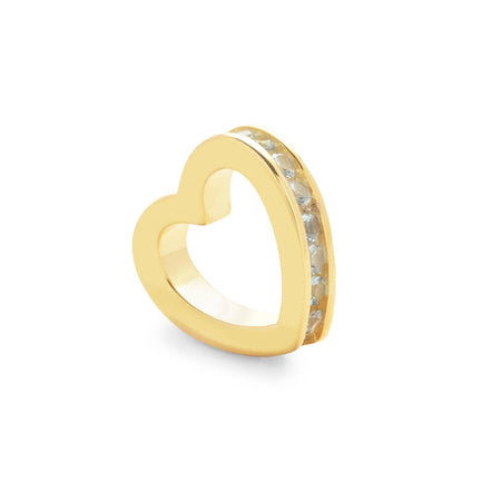 Gold March Eternity Heart Charm