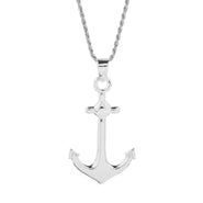 Men's Sterling Silver Anchor Pendant