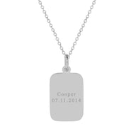Men's Engravable Stainless Steel Rectangle Pendant
