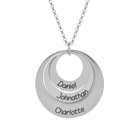 Engravable Sterling Silver Layered Pendant