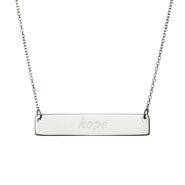Sterling Silver Hope Bar Necklace