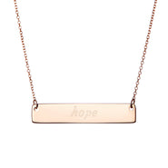 Rose Gold Hope Bar Necklace