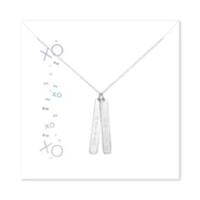 XOXO Custom 2 Vertical Name Bar Necklace