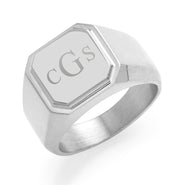 Men's Stainless Steel Square Signet Ring