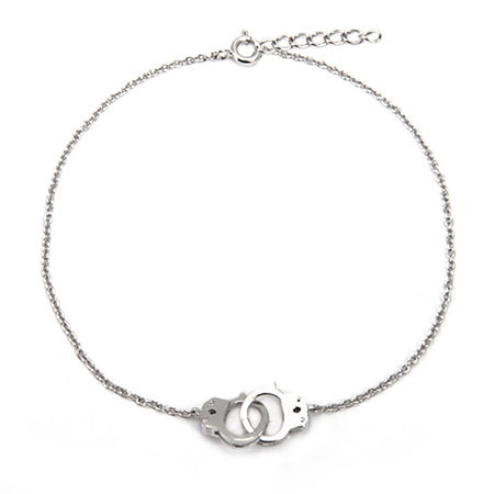 Handcuff Sterling Silver Anklet