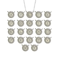 Designer Inspired Round CZ Initial Necklace